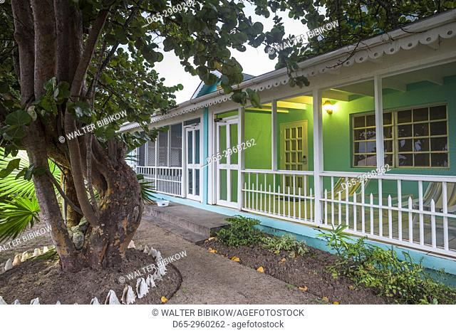 St. Kitts and Nevis, Nevis, Oualie Beach, beach villa