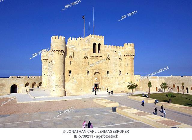 Qaitbey Fortress, Alexandria, Egypt, Africa