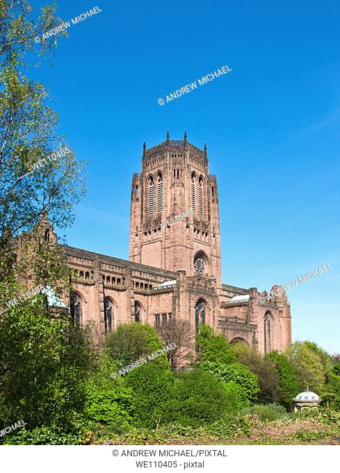 Liverpool Anglican Cathedral Liverpool England UK
