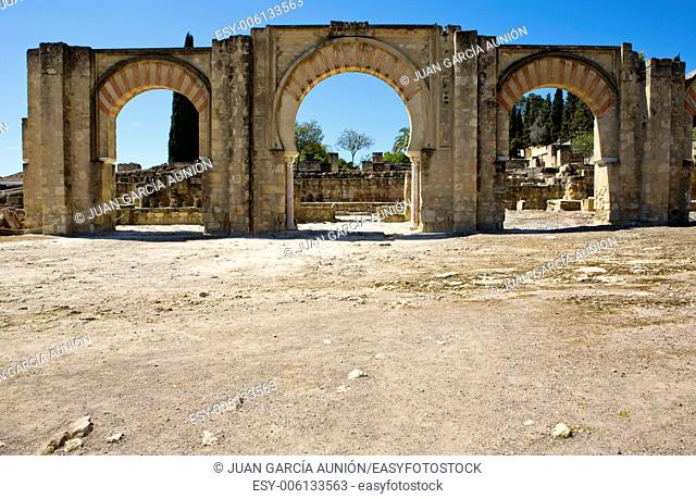 Access gate of Medina Azahara, palace city, Near Cordoba, Andalusia, Spain