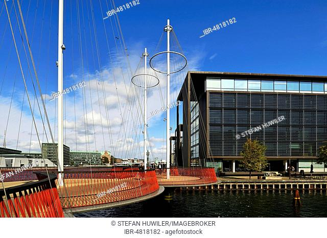 Cirkelbroen Bridge, designed by artist Olafur Eliasson, Christianshavn district, Copenhagen, Denmark