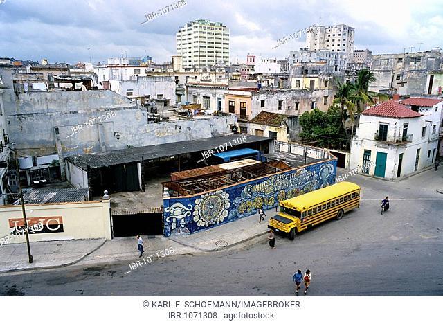 View of the historic centre, Cuarteles, La Habana Vieja, Havana, Cuba, Caribbean