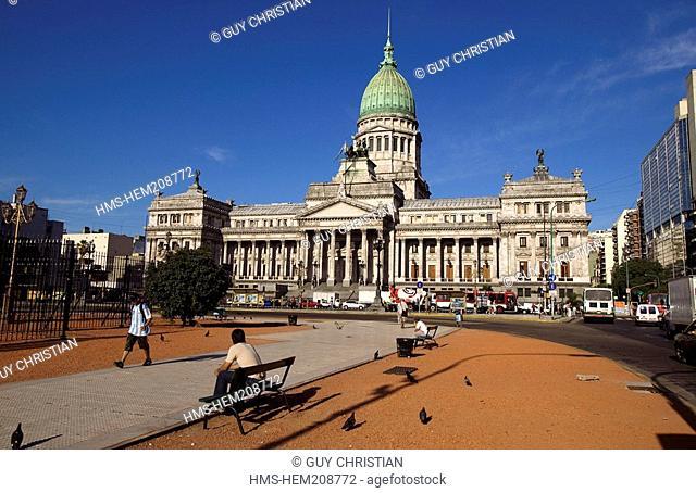 Argentina, Buenos Aires, Plaza Congreso Congress Square, Palacio del Congreso