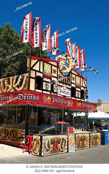 Pretzel stand at the California Mid State Fair, Paso Robles, California, United States of America