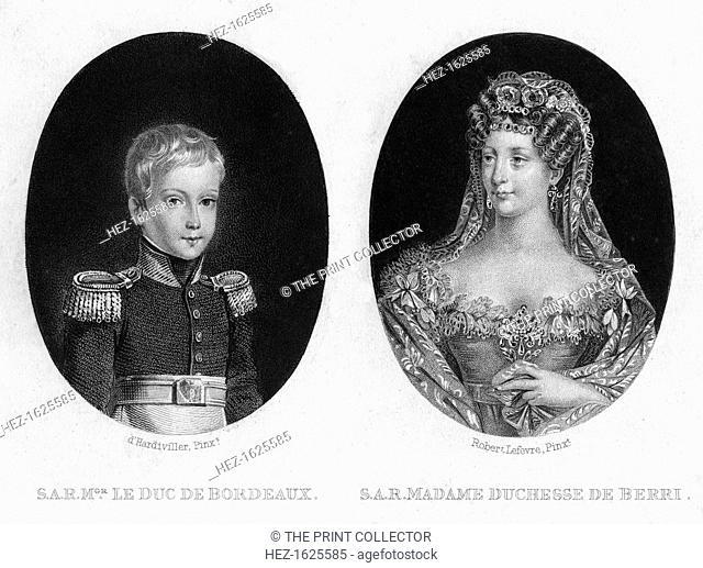 Duke of Bordeaux and the Duchess of Berri