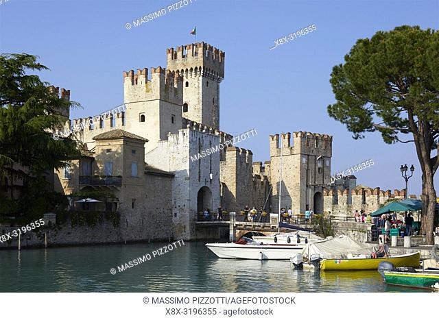 The scaliger castle of Sirmione, Brescia province, Italy