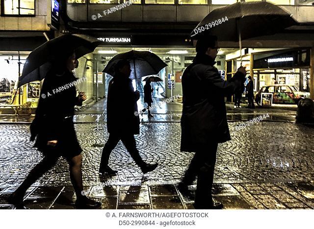 STOCKHOLM, SWEDEN Noir urban street scenes