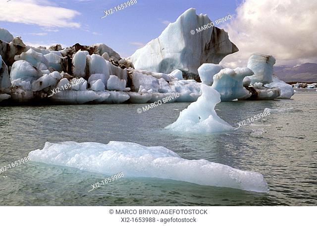 Iceland  Jökulsárlón is a large glacial lagoon in southeast Iceland, on the borders of Vatnajökull National Park  Situated at the head of Breiðamerkurjökull