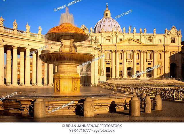 Early morning at St  Peter's Basilica, Vatican City, Rome Lazio Italy