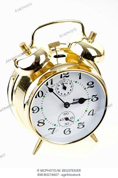 golden alarm clock