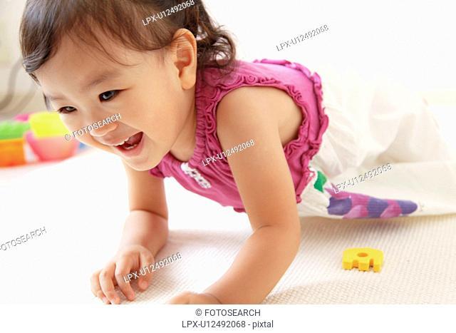 Japanese Baby Girl Playing
