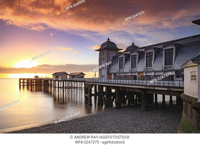 Sunrise at Penarth Pier in South Wales, captured from the promenade in mid February