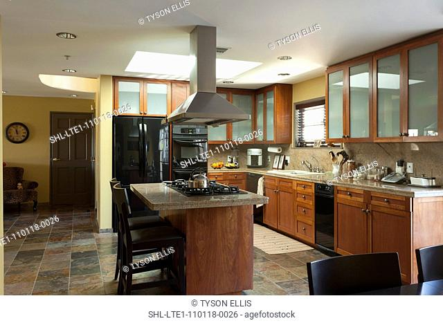Kitchen in traditional home