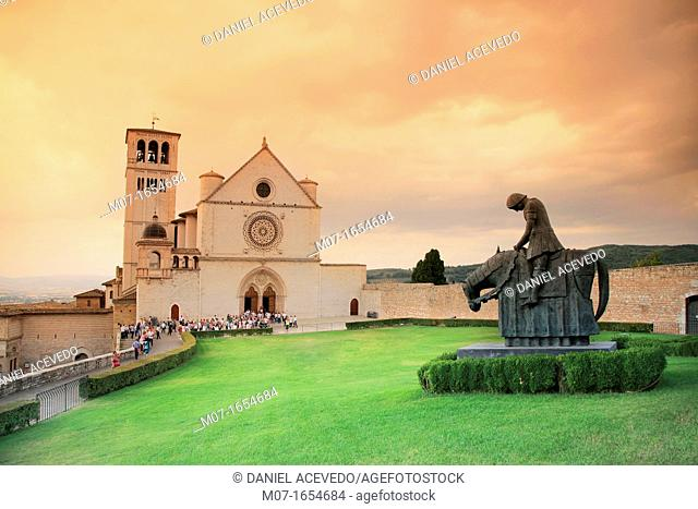 Basilica of San Francesco, Assisi, Umbria region, Italy