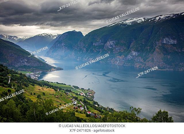 Aurlandsfjorden (Aurland fiord), Sogn og Fjordane, Norway
