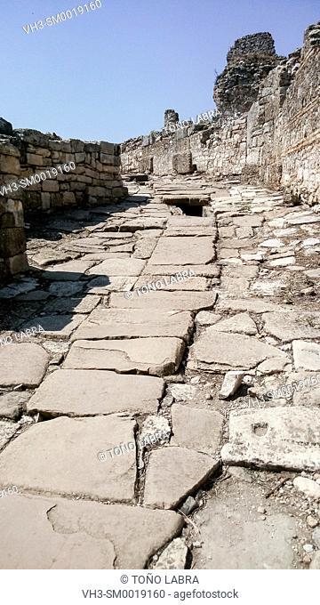 Aspendos Main Road. Ancient Greece. Asia Minor. Turkey