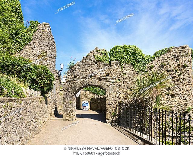Tenby Castle Gate, Wales, UK