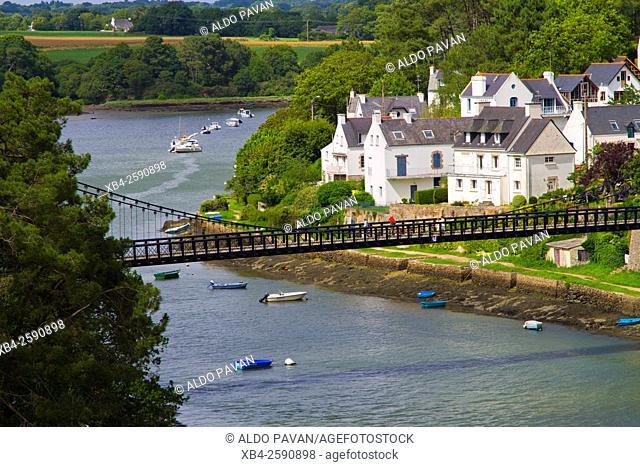 From the bridge Joseph Le Brix, Le Bono, Brittany, France