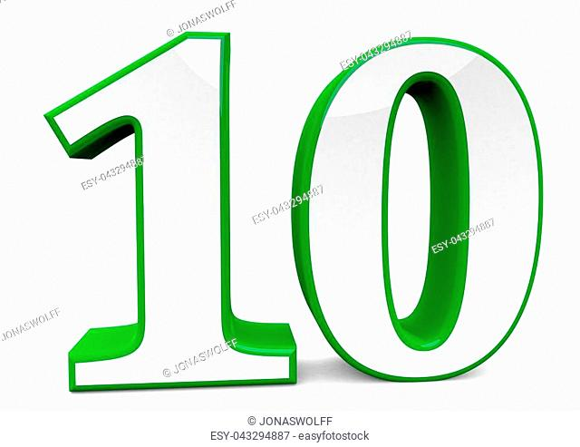 big green number
