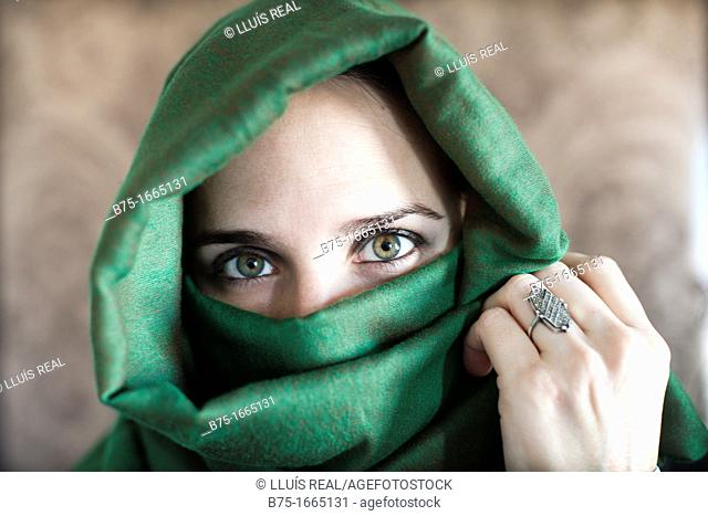 Young woman with Islamic veil