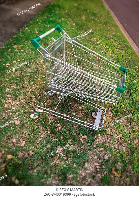 Abandoned shopping trolley