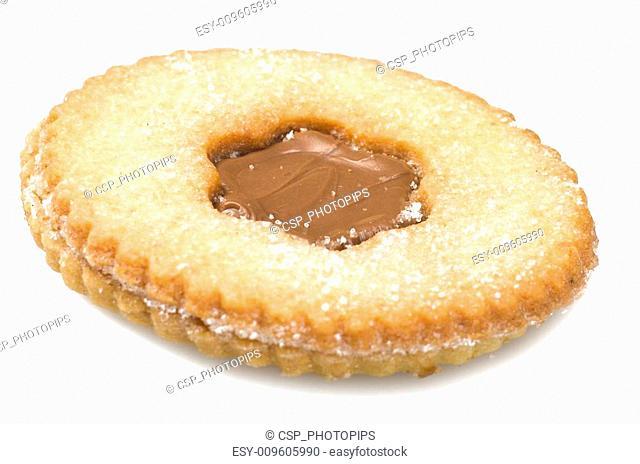 Chocolate pastry, italian homemade on the white