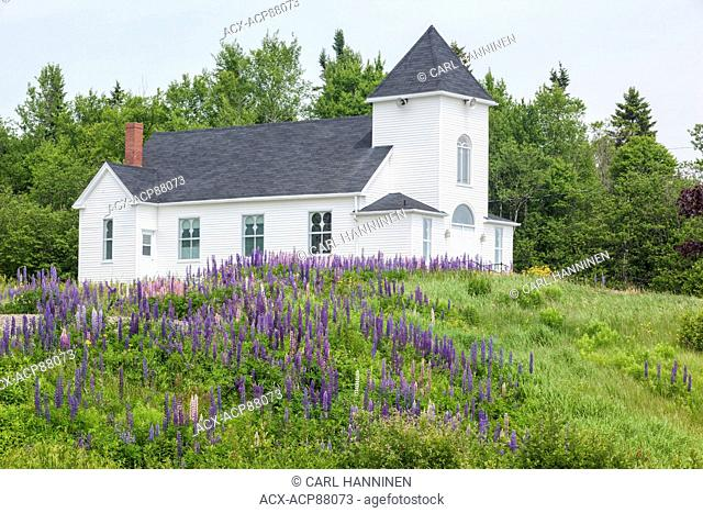 White church, Pocologan, New Brunswick, Canada