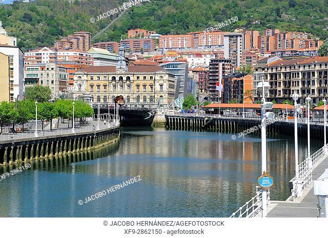 Bilbao city.Bizkaia province.Euskadi.País Vasco.Spain