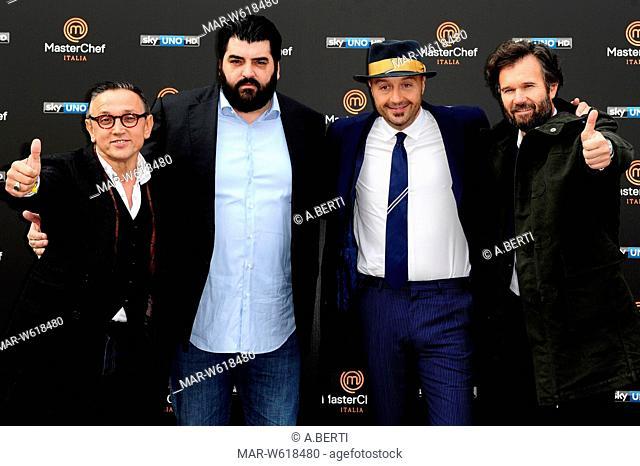 Carlo Cracco, Joe Bastianich, Bruno Barbieri, Antonino Cannavacciuolo milano 15-12-2015