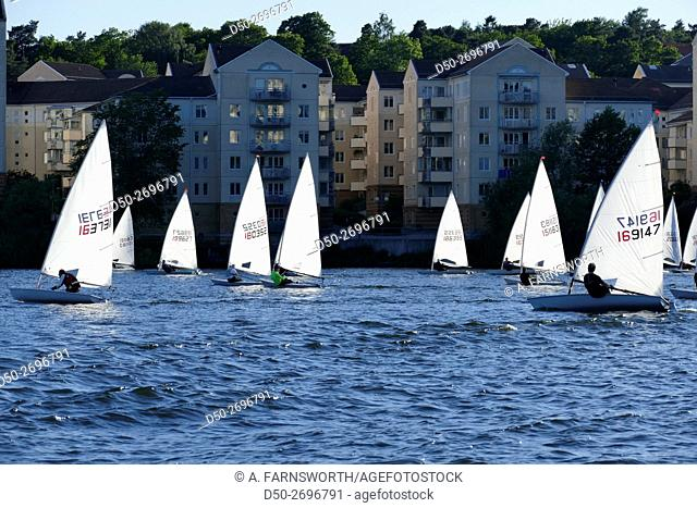 STOCKHOLM, SWEDEN Sailing school on Riddarfjärden