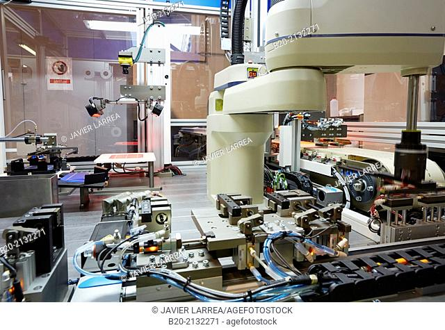 Equipment manufacturing photovoltaic cell strings. For joining and welding solar cells. Making strings. Robotic manufacture