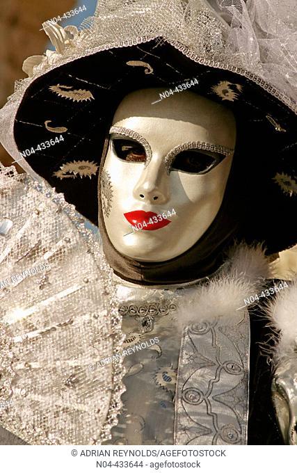 Carnival costume, Venice. Veneto, Italy