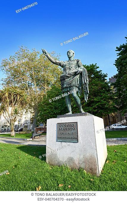 Gijon Antonio Augusto roman statue in Asturias Spain