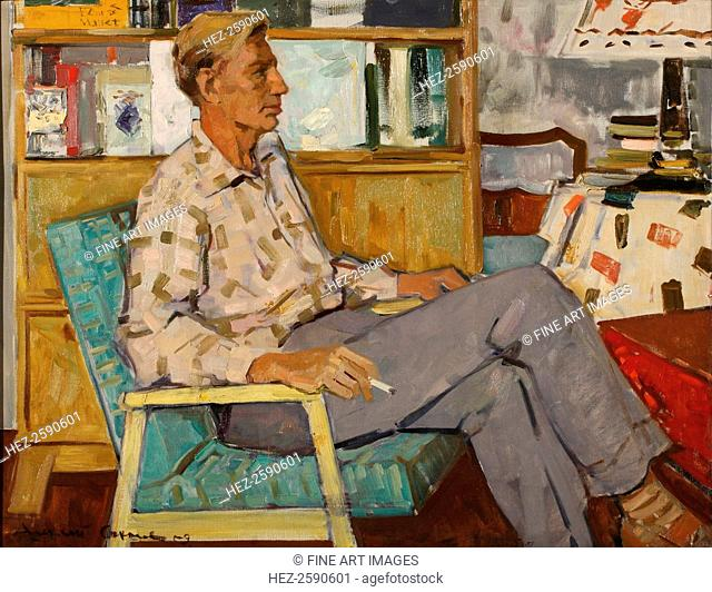 Portrait of the Poet Michail Dudin (1916-1993), 1959. Found in the collection of the Institut of Russian Literature IRLI (Pushkin-House), St Petersburg