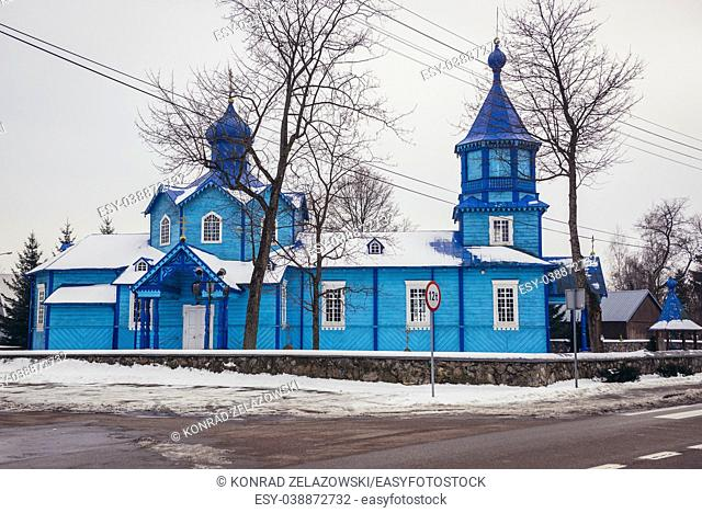 Orthodox church of Exaltation of the Holy Cross in Narew village, Hajnowka County in Podlaskie Voivodeship of northeastern Poland