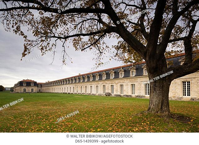 France, Poitou-Charentes Region, Charente-Maritime Department, Rochefort, Corderie Royale, royal rope-making factory of the French Navy, b 1666, exterior