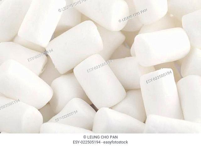 White marshmallows close up