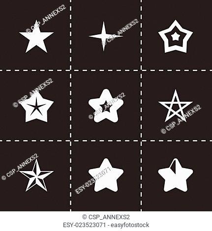 Vector stars icon set