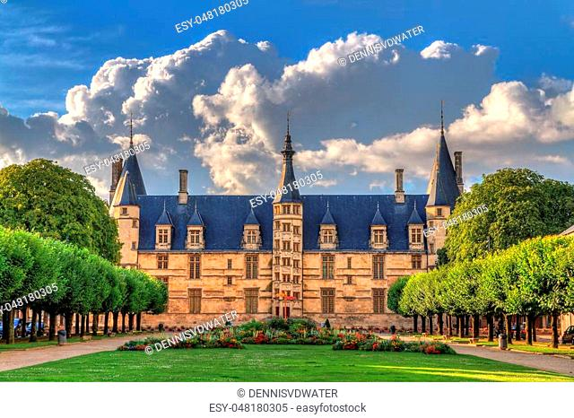 The 15th century historical monument Ducal Palace of Nevers (Palais ducal de Nevers) is the first of the river Loire's castles with its renaissance façade...