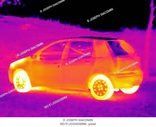 Thermal image of car
