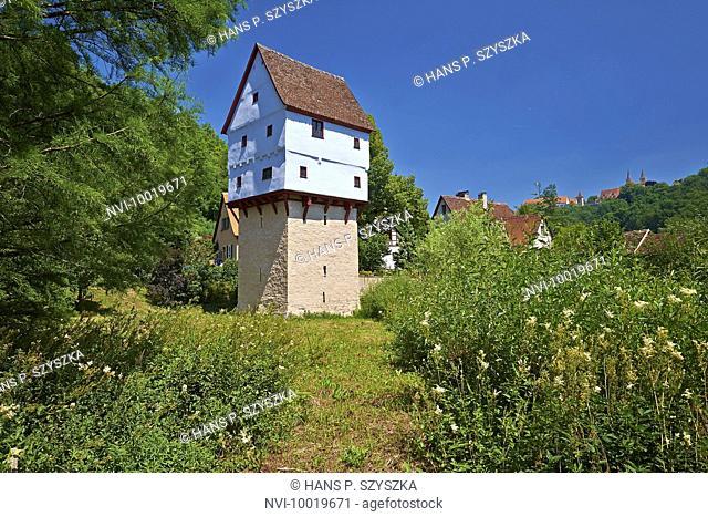 Toppler Castle in Rothenburg ob der Tauber, Middle Franconia, Bavaria, Germany