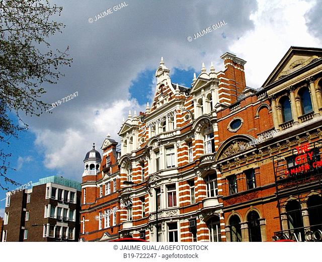 Buildings in Sloane Square, London. England, UK