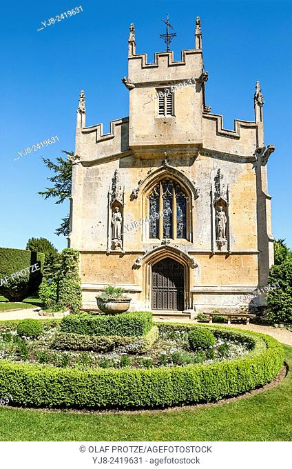 St. Mary's Church at Sudeley Castle which is a castle located near Winchcombe, Gloucestershire, England. It dates from the 10th century