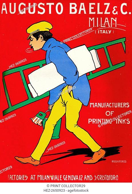 'Augusto Baelz & C. advert', 1907. Artist: Unknown