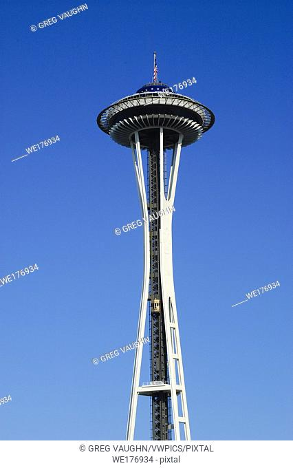 The Space Needle at Seattle Center in Seattle, Washington