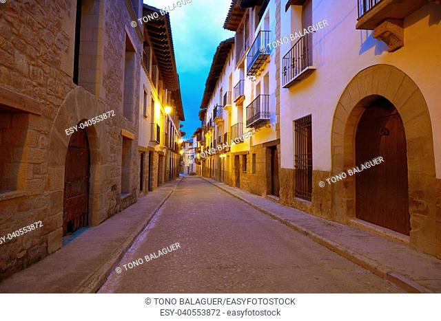 Rubielos de Mora village in Teruel Spain located on Gudar Javalambre Sierra