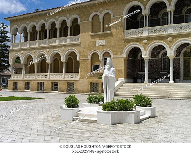 Old town South NICOSIA CYPRUS Archbishop Makarios Statue
