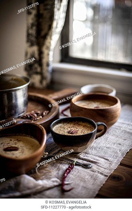 Winter Squash Soup with Pecans