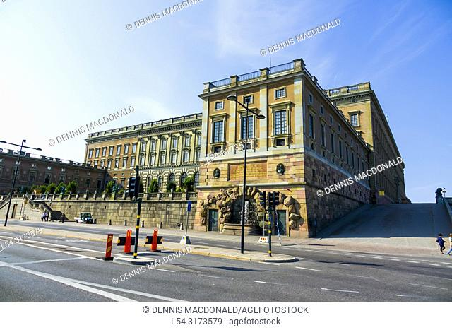 The Royal Palace in Old Town tourist destination in Stockholm is the capital and largest city of Sweden