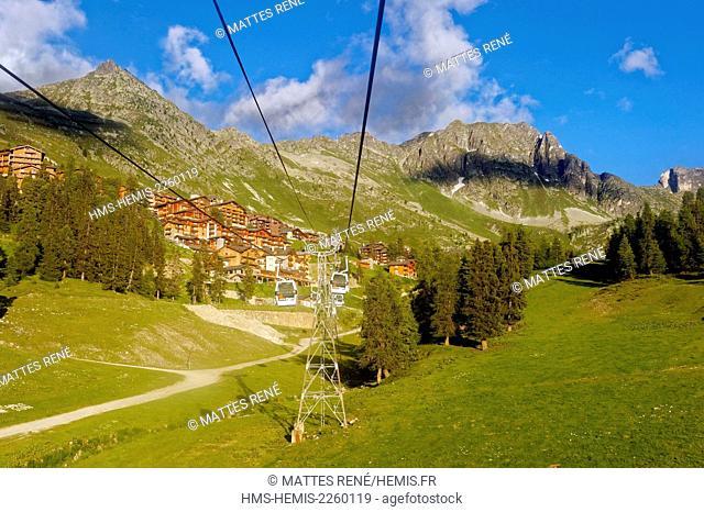 France, Savoie, massif de la Vanoise, Belle Plagne station